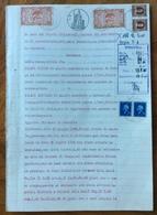 SASSOFERRATO 19/6/1947 - SENTENZA  IN CARTA BOLLATA E MARCHE DA BOLLO IN 12 PAGINE  - NOTEVOLE DOCUMENTO - Historical Documents