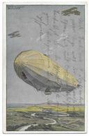 Zeppelin Avec Avions - WWI - Zeppeline