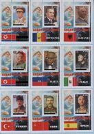 Fantazy Labels Private Issue Great Dictators. Lenin Stalin Hitler Putin Ceausescu. Mussolini. Castro. Mao Et Al. 2016. - Fantasie Vignetten