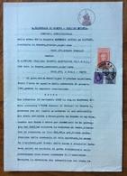 GENOVA 5/5/1941  - SENTENZA  IN CARTA BOLLATA E MARCHE DA BOLLO - Historical Documents