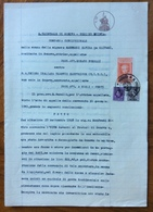 GENOVA 5/5/1941  - SENTENZA  IN CARTA BOLLATA E MARCHE DA BOLLO - Documentos Históricos