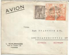TANGER CC A ALEMANIA FRANQUEO MIXTO 1952 SELLOS FERNANDO EL CATOLICO - Spanisch-Marokko