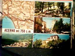 ACERNO  VEDUTE E CARTINA  N1970  HQ9140 - Cava De' Tirreni