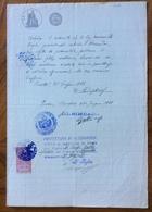 PECETTO - ALESSANDRIA 25/6/1921   - DOCUMENTO  IN CARTA BOLLATA E MARCHE DA BOLLO CON TIMBRI E FIRME - Historical Documents