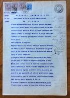 ACQUI 5/2/1920  - DOCUMENTO  NOTARILE CON TABELLIONATO  IN CARTA BOLLATA E MARCHE DA BOLLO CON TIMBRI E FIRME - Historical Documents