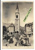 Veneto-belluno-cortina D'ampezzo Piazza Veduta Animatissima Persone Chiesa Vecchie Auto Epoca Auto Corriera Anni 30/40 - Italien
