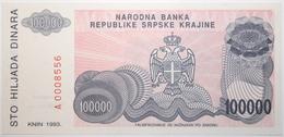 Croatie - 100000 Dinara - 1993 - PICK R22a - NEUF - Croacia