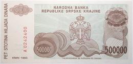 Croatie - 500000 Dinara - 1993 - PICK R23a - NEUF - Croacia
