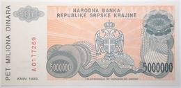 Croatie - 5000000 Dinara - 1993 - PICK R24a - NEUF - Croacia