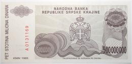 Croatie - 500000000 Dinara - 1993 - PICK R26a - NEUF - Croacia
