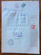 NAPOLI CASELLARE GIUDIZIARIO - 5/11/57 - DOCUMENTO   IN CARTA BOLLATA E MARCHE DA BOLLO - Historical Documents