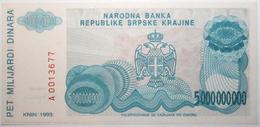Croatie - 5000000000 Dinara - 1993 - PICK R27a - NEUF - Croacia