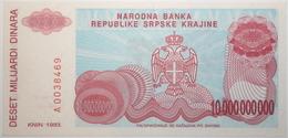 Croatie - 10000000000 Dinara - 1993 - PICK R28a - NEUF - Croacia