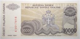 Croatie - 10000 Dinara - 1994 - PICK R31a - NEUF - Kroatië