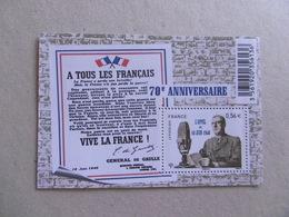 FRANCE 2010  F4493  NO YT  4493  * *  GENERAL DE GAULLE - Blocs & Feuillets