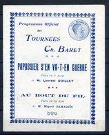 ANCIEN PROGRAMME TOURNEES CH.BARET REF280520 CH.BARET, Pour La Saison D'été 1922 - Programmes
