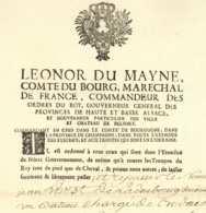 Polnischer Erbfolgekrieg 1735 Strasbourg MARECHAL DU BOURG Superbe Passeport Batelier Ladenburg Hollande - Historical Documents