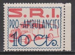 1937 VIÑETA PRO AMBULANCIAS SOCORRO ROJO INTERNACIONAL**. MUY RARA - Vignette Della Guerra Civile