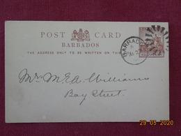 Entier Postal De 1896 De La Barbade Pour Les USA - Barbados (...-1966)
