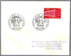 Hermanamiento RIOM (Francia) Y NORDLINGEN (Alemania) - Jumelage. Riom 1969 - Postzegels