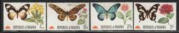 BIAFRA - N°22/25 ** (1968) Papillons Et Fleurs - Nigeria (1961-...)
