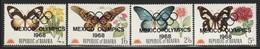 BIAFRA - N°26/9 ** (1968) Papillons Et Fleurs - Surchargé : J.O De Mexico - Nigeria (1961-...)