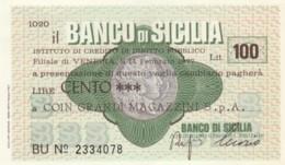 MINIASSEGNO BANCO DI SICILIA COIN L.100 FDS (YM1026 - [10] Chèques