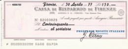 MINIASSEGNO CASSA RISPARMIO FIRENZE AL PORTATORE L.150 FDS (YM643 - [10] Scheck Und Mini-Scheck