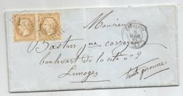 -  AVEYRON - ESPALION - GC.1415 S/Paire Du TP Napoleon III N°21+ Càd Type 15 - 1865 - 1862 Napoleon III