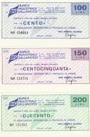 SERIE 3 MINIASSEGNI FDS BANCA INDUSTRIALE GALLARETESE ASS ARTIGIANI VARESE (YM652 - [10] Cheques En Mini-cheques