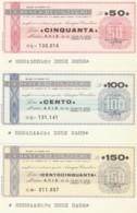 SERIE 3 MINIASSEGNI FDS BANCA BELLINZAGHI AVIS (YM654 - [10] Cheques En Mini-cheques