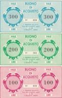 SERIE 3 BUONI ACQUISTI CINEMA TEATRO IL TESO MARESCA (PISTOIA) FDS (YM1069 - [10] Cheques Y Mini-cheques