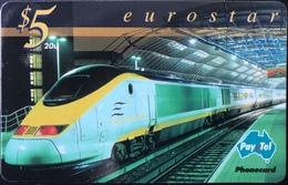 AUSTRALIE  -  Pay.Tel  -  Eurostar  -  $ 5 - Australia