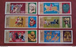 North Yemen Aden Saudi Arabia 1968 - Olympic Games Mexico - Perf Gold Variant Mi 777-782 MNH - Sports Athletics Games - Yemen