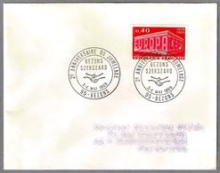 Hermanamiento BEZONS (Francia) Y SZEKSZARD (Hungria) - Jumelage. Bezons 1969 - Postzegels