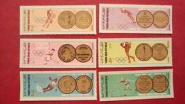 Yemen North Aden Saudi Arabia 1968 - Winter Olympic Games Grenoble - Perf Deluxe Values Blue Version MNH - Sports - Yemen