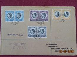 Lettres D'Afrique Du Sud Pour Le Canada De 1937 Avec Cachets D'arrivées Au Dos - Africa Del Sud-Ovest (1923-1990)