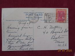 Carte De La Jamaique De 1928 Pour Les USA - Giamaica (...-1961)