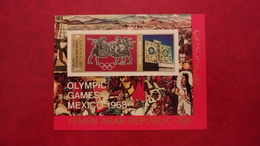 Yemen North Aden Saudi Arabia 1968 - Summer Olympic Games Mexico - Imperf Deluxe Sheet MNH - Sports Mi 76 Unlisted Rare - Yemen