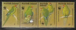 NORFOLK - N°413/6 ** (1987) Oiseaux : Le Perroquet Vert - WWF - - Norfolk Island