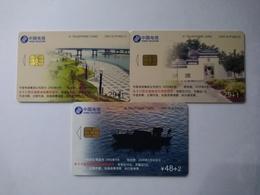 China Telecom Chip Cards, CNT-IC-P10, Minjiang River,  (3pcs) - China