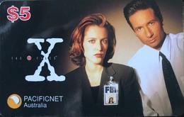 """AUSTRALIE  -  PACIFICNET  -  """" X """"   -  $ 5 - Australia"""