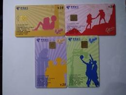 China Telecom Chip Cards, CNT-IC-P73, Campus,  (4pcs) - China