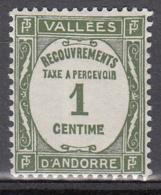 Andorre Tx 16 ** - Portomarken