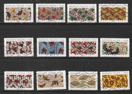 2019 Tissus Inspiration Africaine  AA 1657 à 1668 Oblitérés - France