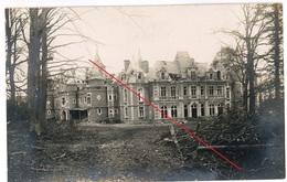 Soldatenleben - Chateau Belgien   Frankreich ? -   WWI Carte  Photo Allemande - Oorlog 1914-18
