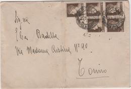 9386.   Busta Vercelli Torino  10 Cent. Cinquina Annullo Regno 1932 - 1900-44 Victor Emmanuel III
