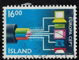 Islande 1988 Oblitéré Used Europa CEPT Télécommunications SU - 1944-... Republique