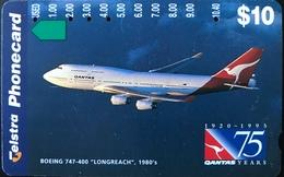 AUSTRALIE  -  Telstra  -  QANTAS 75 Years  -  $ 10 - Australia