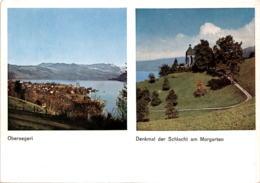 Oberaegeri - Denkmal Der Schlacht Am Morgarten - 2 Bilder * 7. 4. 1995 - ZG Zoug